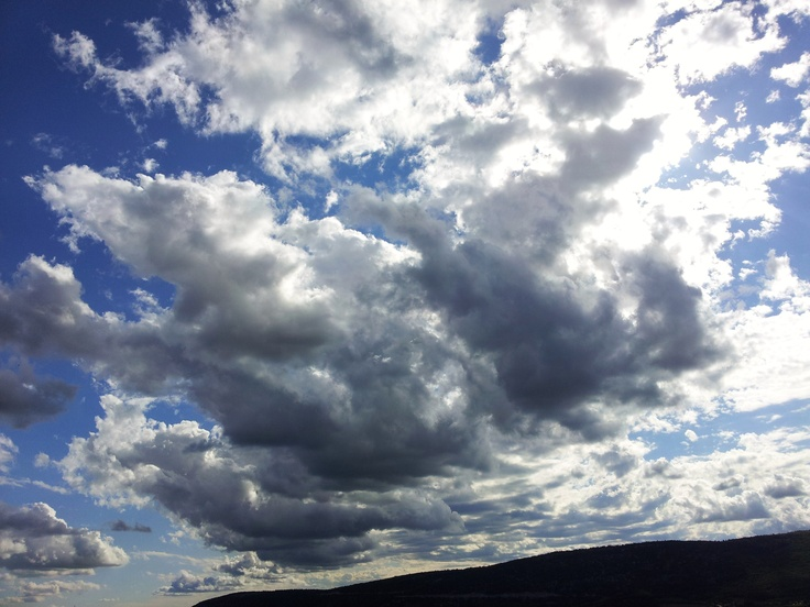 Clouds passing over Provence - France