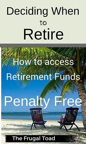 Deciding when to retire can be a difficult decision to make.  Will I have enough income from my retirement accounts, pension, and social security to live comfortably in retirement?  A common misunderstanding of individuals contemplating when to retire is that you can not access your retirement