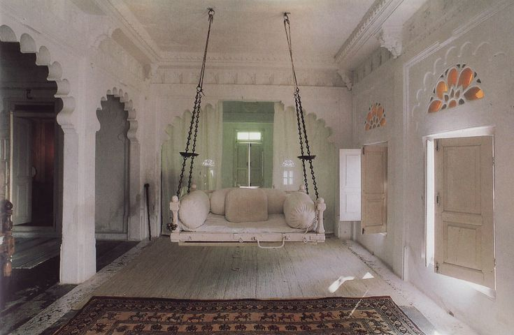 Swing jhoola a common feature in traditional indian for Living room jhula
