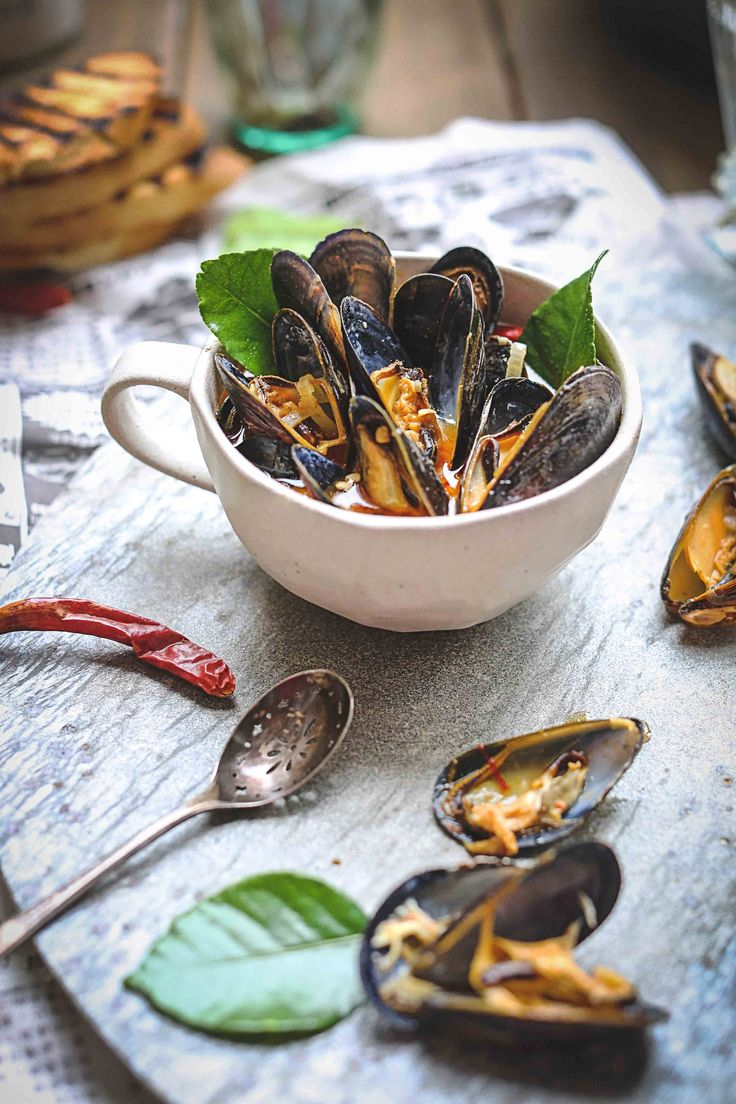 was beer steamed mussels with mustard créme fraiche parmesan croutons ...