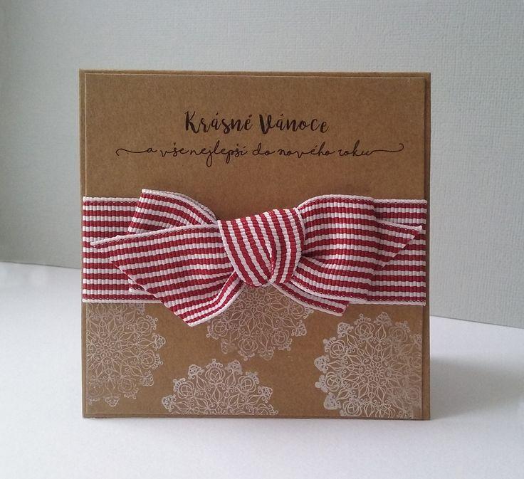 Christmas card - ribbon