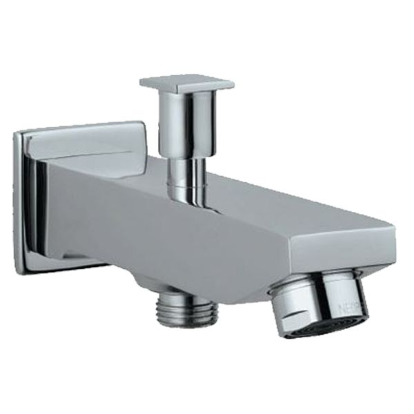 Buy Jaquar Kubix SPJ-35463 Bath Tub Spout with Button Attachment for Hand Shower with Wall Flange in Taps through online at NirmanKart.com