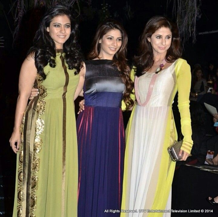 Lakme fashion week 2014 : kajol, Tanisha, Urmila.