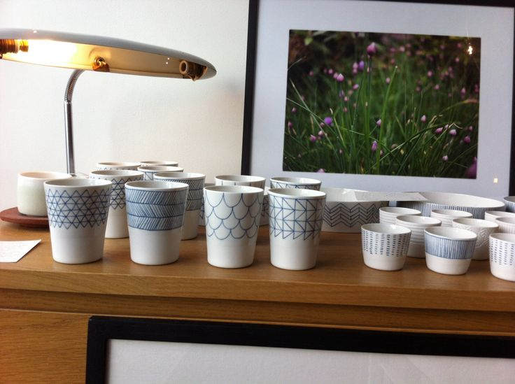 Beauriful white and blue ceramic - available at Le Rocketship