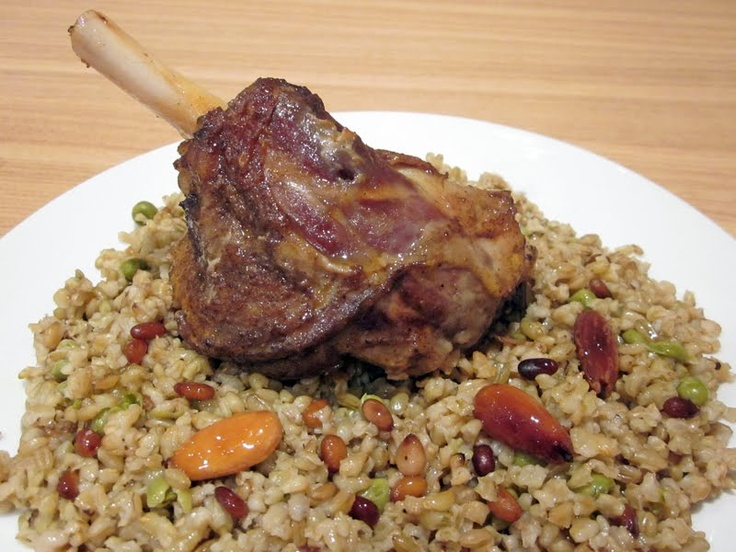 30 best arabic food images on pinterest arabic food arabic freekeh with slow roasted lamb shanks forumfinder Gallery