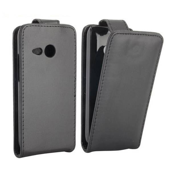 Zwart flipcase hoesje voor HTC One Mini 2