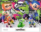 Inkling Squid Amiibo Splatoon Green 3-pack only (w/ Orange Girl + Blue Boy)