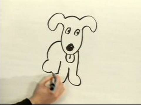 Easy Cartoon Drawing : How to Draw a Cartoon Dog
