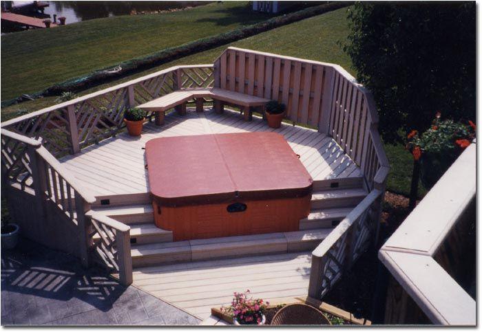 1000 images about hot tub ideas on pinterest hot tub deck decks and backyards. Black Bedroom Furniture Sets. Home Design Ideas