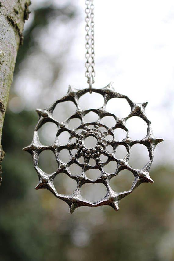 Tapani Vanhatalo (FI), vintage modernist pewter wheel-shaped pendant, 1970s. #finland | finlandjewelry.com #forsale