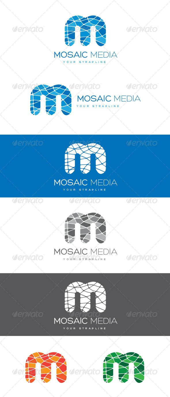 Mosaic Media Letter M Logo — Vector EPS #vibrant #college • Available here → https://graphicriver.net/item/mosaic-media-letter-m-logo/8470327?ref=pxcr