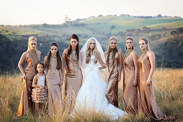 Wedding in South Africa! Breathtaking wedding style. Love!     M-bridesmaids