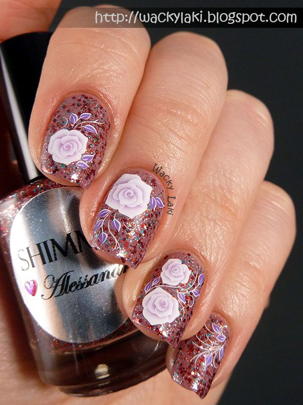 Shimmer Alessandra with Floral Decals...