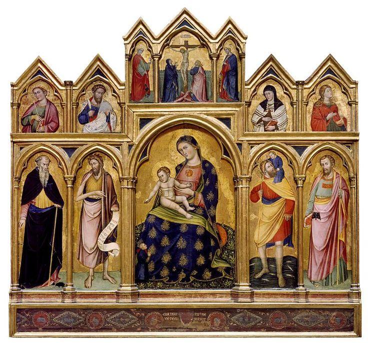 Catarino Veneziano - Madonna col Bambino, la Crocifissione e Santi - 1380-1389 - Walters Gallery, Baltimora