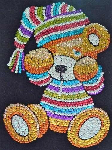 50 best images about sequin craft on pinterest gold for Tableau en sequin