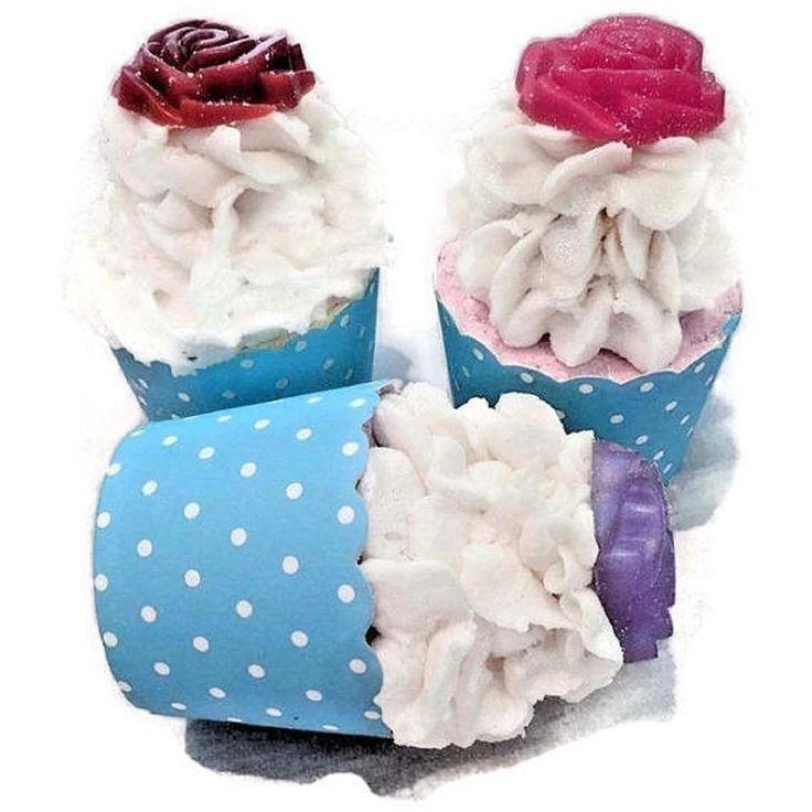 Foaming bath bomb cup cake in bali spa time fragrance