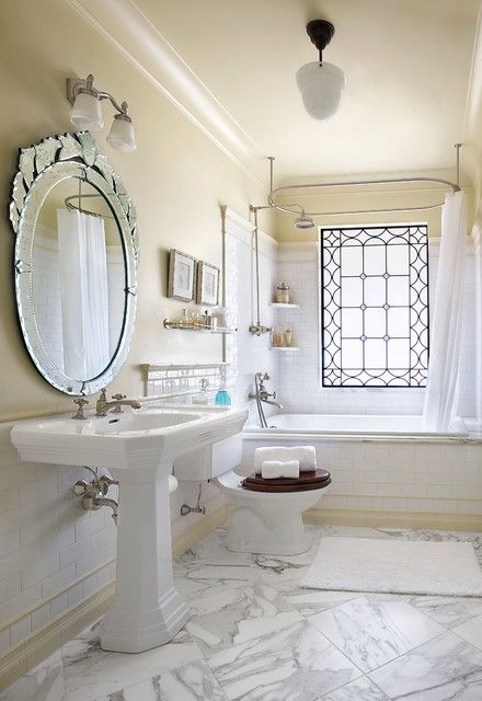 Kohler Tea For Two Bathroom Victorian With Accent Window Marble Floor Oval  Mirror Shelf Shower Shower. BadezimmerVictorian BadezimmerFranzösisch ...