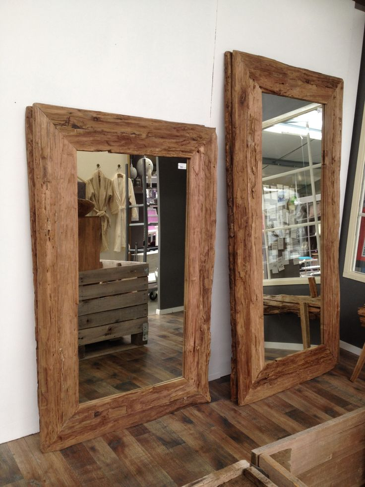 Spiegel Hout Spiegels In 2019 Wood Framed Mirror Wood