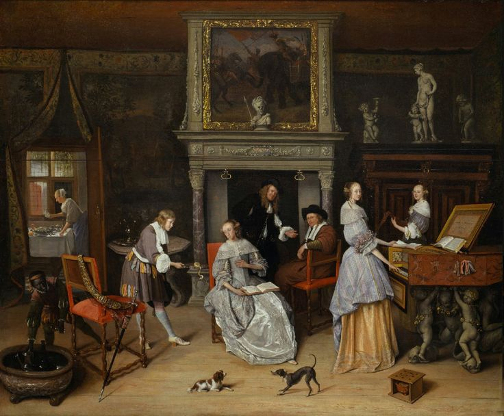 Fantasy Interior with Jan Steen and the Family of Gerrit Schouten Jan Steen - circa 1660