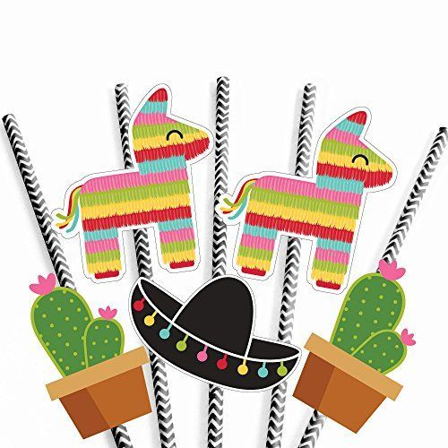 Let's Fiesta - Paper Straw Decor - Mexican Fiesta Party S
