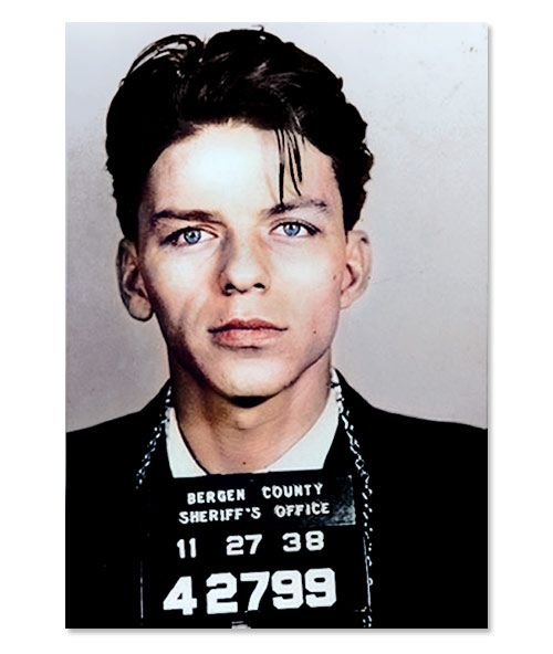 1938 Frank Sinatra Mugshot In Colour Sound And Visions