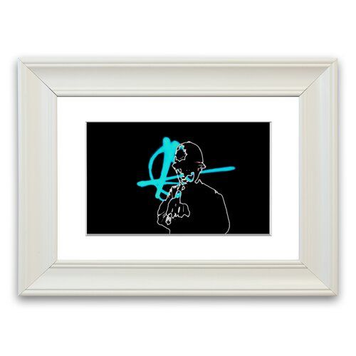 Copper Finger  Cornwall Banksy Framed Wall Art East Urban Home Size: 93 cm H x 126 cm W, Frame Options: Matte White  – Products