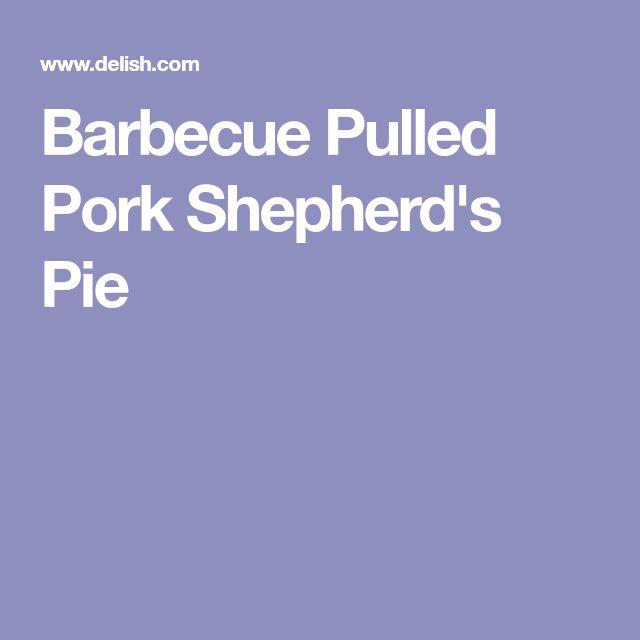 Barbecue Pulled Pork Shepherd's Pie