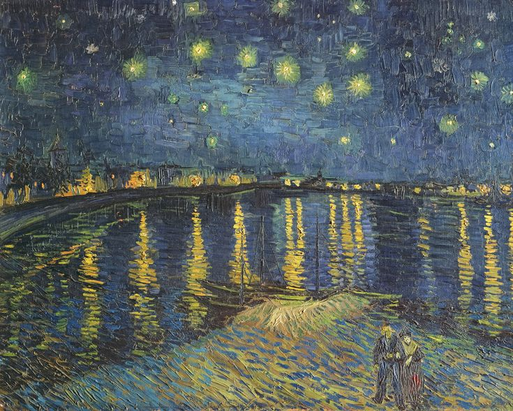 Starry Night over the Rhone, 1888 (oil on canvas) in 2020