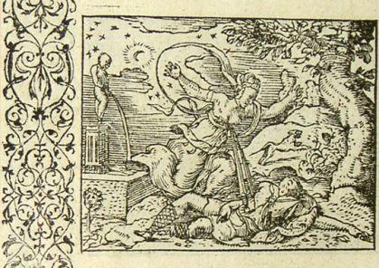 Mort de Pyrame et de Thisbé (Métamorphose Lyon 1557) - Bernard Salomon