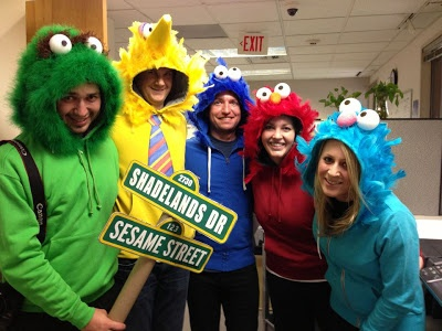 Easy Halloween Costumes: Add a feather boa to a hooded sweatshirt and voila!
