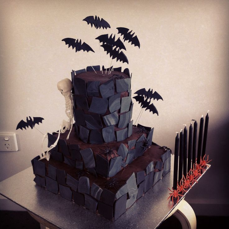 Spooky castle cake