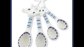 ceramic measuring spoons - YouTube