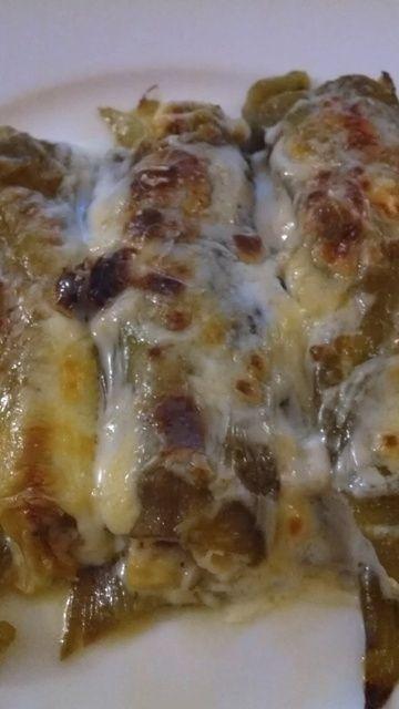 Canelones de pimientos rellenos de pollo y setas :: EL CAMINO VERDE