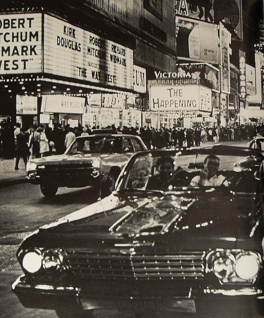 Times Square 1967 Theatre Marquees and Signs New York City Vintage by Christian Montone, via Flickr