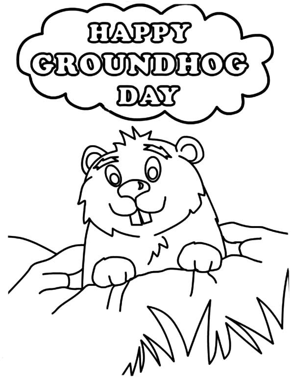 Groundhog Day Free Printable Coloring Pages Di 2020