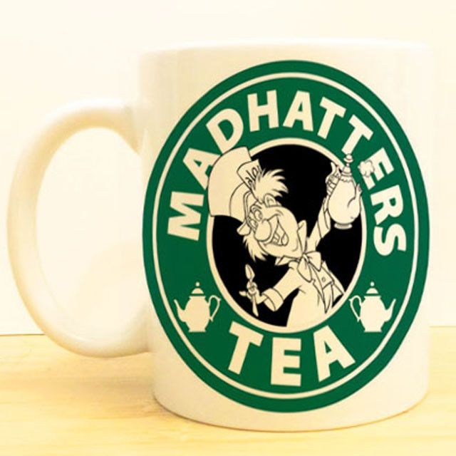 Mad Hatter S Tea Coffee Mug Alice In Wonderland Starbucks Disney