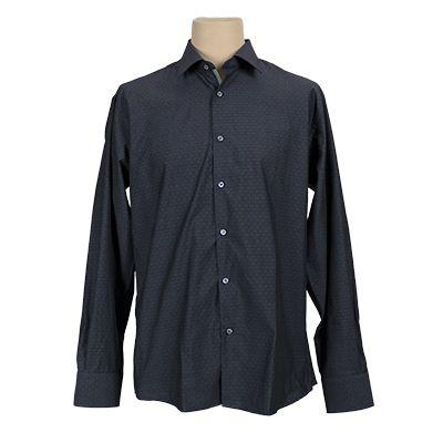Camicia vestibilita' regolare fantasia - Grigio scuro - Invernale. € 37,00. #hallofbrands #hob #camicia #shirt
