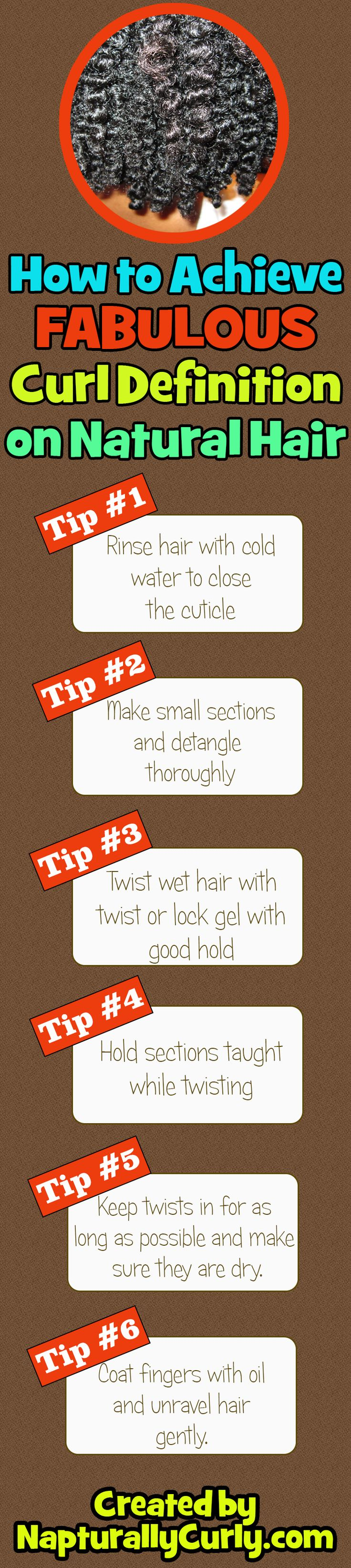 Natural hair is still pretty without curl definition but here are some tips when you want to define your tresses. via http://napturallycurly.com