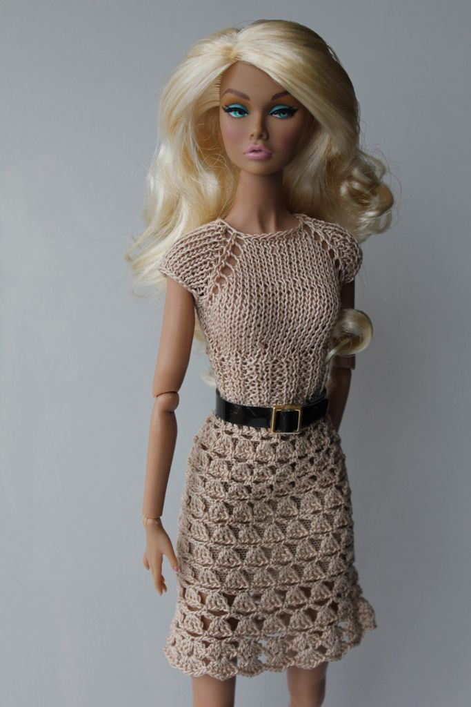 Knitting Clothes For Barbie Dolls : Best images about crochet for barbie on pinterest