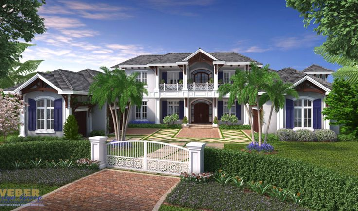 Coral Crest House Plan - Weber Design Group - The Coral Crest House Plan is a magnificent estate home with a beautiful stately curb appeal. Complete with 2 master suites, separate caretakers quarters, 3 additional bedrooms and 5 full baths, its no wonder why this house plan was designed to not only take full advantage of view oriented lots with over 1,500 sq. ft. of outdoor living space but also functionally cater to exactly what modern families want in a luxury home.