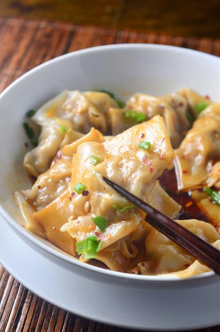 311 best asia cuisine ideas images on pinterest asian food shrimp and pork wontons in spicy sauce forumfinder Images