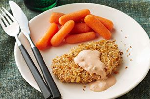 Panko-Almond-Crusted Pork Medallions with Carrots Recipe - Healthy ...