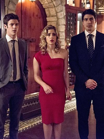 The Flash 1x18 - Barry Allen, Felicity Smoak & Ray Palmer