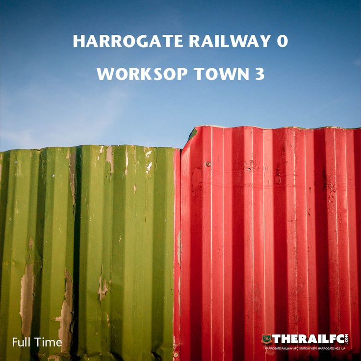 FT: Harrogate Railway 0-3 Worksop Town    @therailfc @worksoptownfc @Howell_rm @edwhite2507