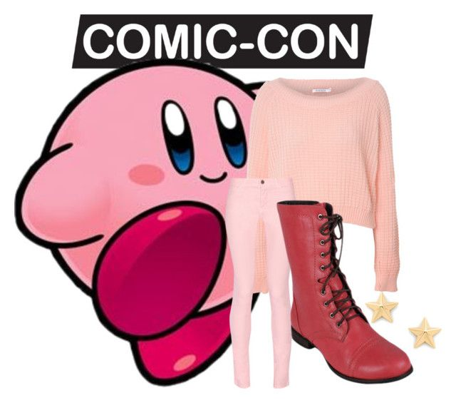"""""""Kirby"""" by buffaloshoebiz on Polyvore. I plan on doing a cosplay similar to this, except with red socks and red sneakers instead of red boots. I could even add a Copy Ability hat, whether from a Kirby game, a Super Smash Bros, game, or some other fictional character a la Smash."""