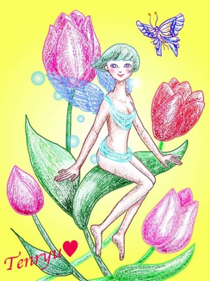 花の妖精 (イラスト・色々) - だいじょうぶ
