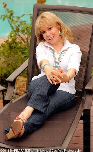 Barbara Eden at home. She's now 78 and as beautiful as ever.