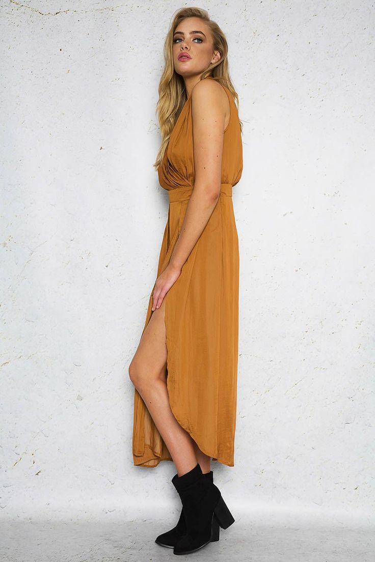NO TAN LINES DRESS - Copper