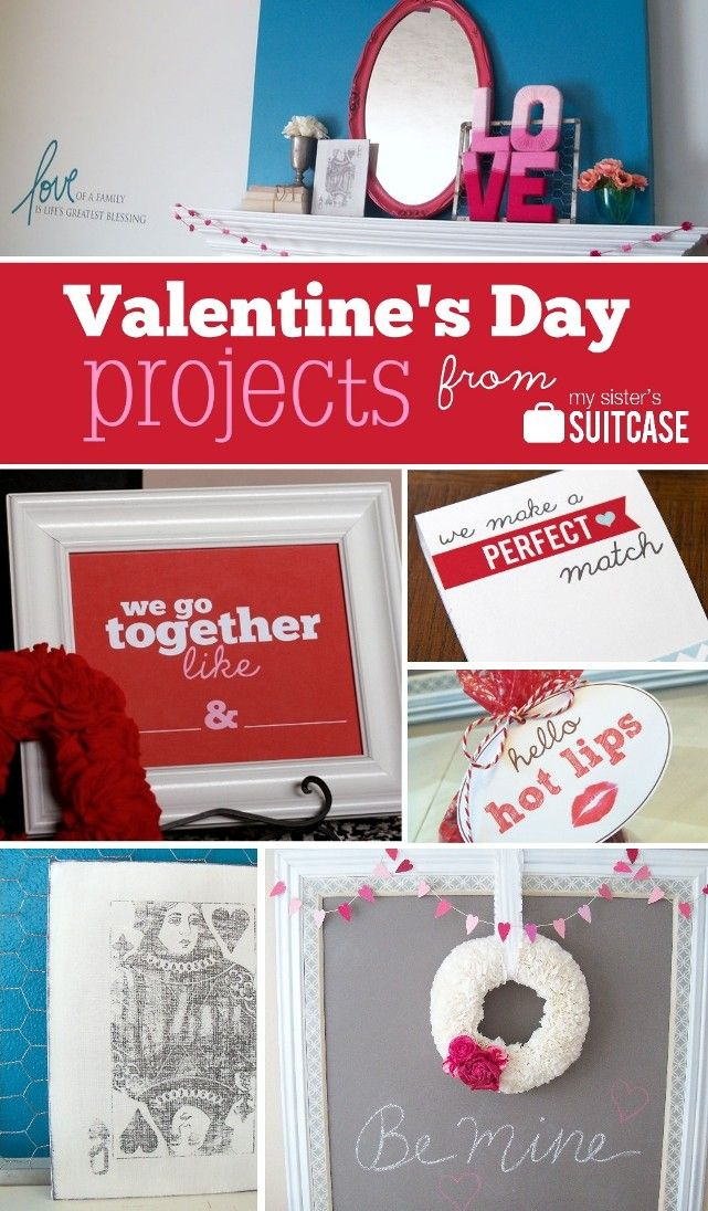 Our favorite Valentine's Day projects from www.sisterssuitcaseblog.com #valentinesday