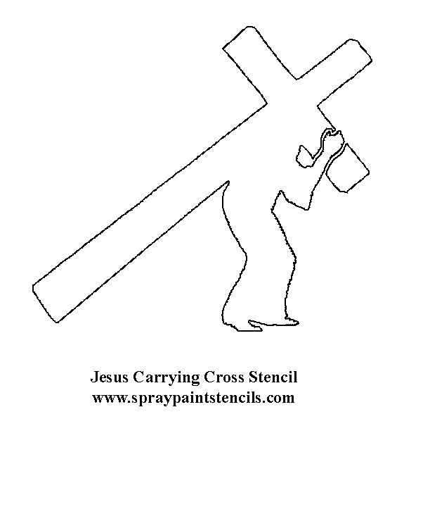 This is a picture of Peaceful Free Printable Cross Stencils